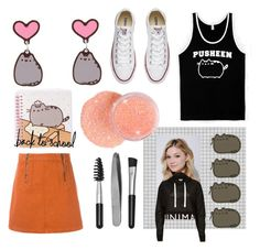 """""""#PVxPusheen"""" by cschorr-1 ❤ liked on Polyvore featuring Pusheen, Converse, M.i.h Jeans, Neutrogena, Sephora Collection, River Island, contestentry and PVxPusheen"""
