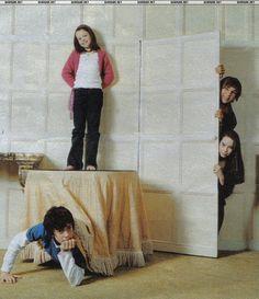 The Narnia Cast, the Pevensie children: Skansar Kaynes, Georgie Henley, William Moseley, and Anna Popplewell.