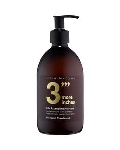 Michael Van Clarke 3 More Inches Pre-Wash Treatment | Bloomingdale's 38$ Protein packed 3 More Inches treatment promises to help hair grow half an inch in one month.