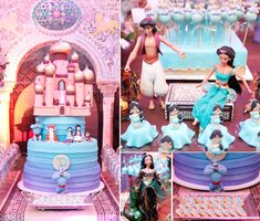 Bolo para festa Jasmine - Perla - 5 anos