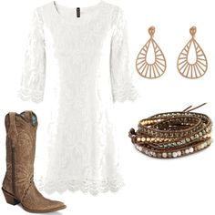 country concert, created by #haleyhartt on #polyvore. #fashion #style H&M Chan Luu