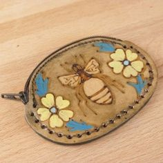 A little art nouveau inspiration for the  Melissa Leather Coin Purse makes it a timeless piece that will be treasured for ages!