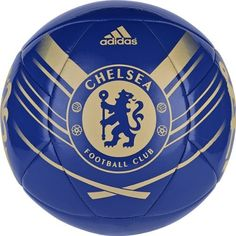 Chelsea Soccer Ball (Reflex Blue/Light Football Gold/White/Bright Blue, 5) by adidas. $24.99. Machine stitched. This construction (nylon-wound carcass/TPU) ensures soft touch and high durability. Butyl bladder for best air retention.