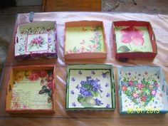 Resultado de imagen de decoupage Fun Crafts, Diy And Crafts, African Wall Art, Tea Tray, All Craft, Paint Furniture, Painting On Wood, Decorative Boxes, Frame