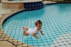 If I had a pool ----- swimming pool safety net. i would lay on that to tan :O Pool Safety Net, Mini Piscina, My Pool, Pool Fun, Dream Pools, Cool Pools, Pool Designs, The Great Outdoors, My Dream Home