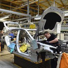 View inside Bermen's Mercedes-Benz factory