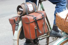 Vintage 70s panniers and a mini wine-barrel for good measure