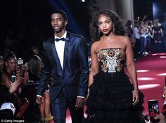 Big time: The runway this weekend was packed with the offspring of celebrities, including Christian Combs and Lori Harvey (the kids of Diddy and Steve Harvey, respectively)