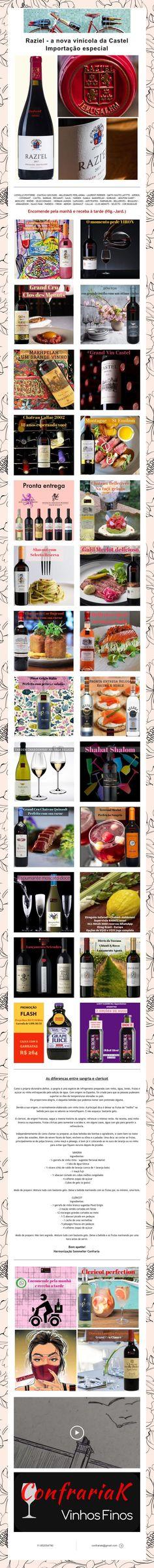 Raziel - a nova vinícola da Castel  Importação especial Mouton Cadet, Laurent Perrier, Nova, Wine Pairings, You Are Special