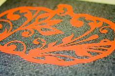 filigree pumpkin stencil, my crafty friend put it on Halloween tshirts using freezer paper
