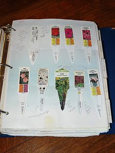 Garden Journaling - include tags from plants (when they were planted, how well they did and when they faded, landscape drawings of your different beds, what was planted where, the weather, etc...