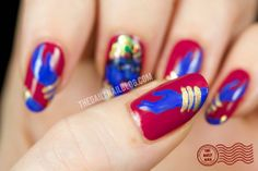 Fit for a Goddess? My nail art featuring the Hindu goddess Kali. Click on…
