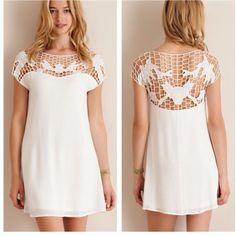 White Cut Out Summer Dress Brand new! Gorgeous summer dress. Ships same day if ordered by 11:00 am CST. 15% bundle discount on 3 or more items. LuckyMia Dresses Mini