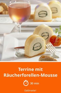 The Terrine with Smoked Trout Mousse recipe out of our category Fish! EatSmarter has over healthy & delicious recipes online. Cold Water Bath, Fingerfood Party, Smoked Trout, Tasty, Yummy Food, Yummy Recipes, Party Finger Foods, White Bread, Gluten Free Recipes