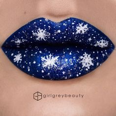 "8,377 Likes, 44 Comments - Andrea || Victoria, BC (@girlgreybeauty) on Instagram: ""Snow day #lipart ❄️❄️❄️ Base colour is @anastasiabeverlyhills 'Paint' liquid lipstick. Snow painted…"""