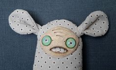 Unique gift handmade fabric rag doll - Miss Vintage by SzyszkaDolls on Etsy Unique Gifts, Handmade Gifts, Rag Dolls, Unique Jewelry, Fabric, Etsy, Vintage, Kid Craft Gifts, Fabric Dolls