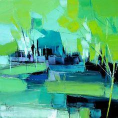 """""""Deep Waters"""" - cm - oil on canvas Hervé LENOUVEL - www.art-et-avenir. Landscape Artwork, Abstract Landscape Painting, Watercolor Landscape, Abstract Canvas, Artist Art, Cool Art, Contemporary Art, Fine Art, Landscaping Work"""