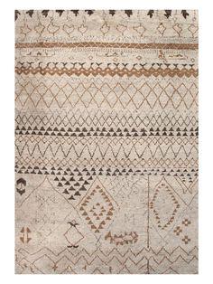 Moroccan Pattern Hand-Knotted Rug by Jaipur Rugs at Gilt