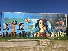 Mural on E. Commerce Street in San Antonio, Texas.