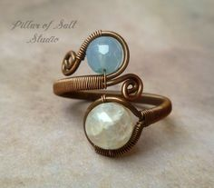 Wire jewelry wire wrapped jewelry handmade by PillarOfSaltStudio