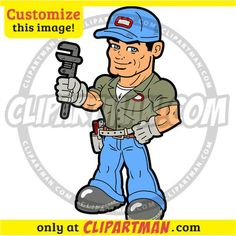 Plumber clipart & Handyman image cartoon - Clipartman.com