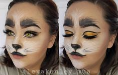 Halloween cat face paint makeup