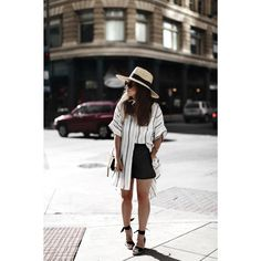 Striped Tunic Dress Outfit Dallas by Fiona Dinkelbach