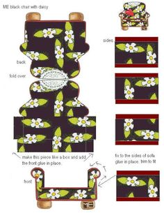 Mary engelbreit printable chair...    make a smaller scale, change pattern- quick model furniture