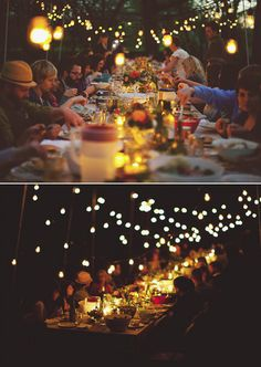 family style with pretty lights
