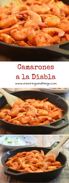 With succulent shrimps cooked in a fiery, smoky pepper sauce, these Camarones a la Diabla are sure to rock your taste buds. They're call deviled shrimps for good reason! via @lalainespins