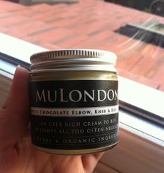 """I woke up the next morning and my heels were noticeably smoother."" - MuLondon White Chocolate Elbow, Knee & Heel cream review.  #MuLondon #organic #whitechocolate #chocolate #moisturiser #elbow #knee #heel #balm #footcare"