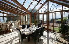 spacious conservatory dining Engineered Hardwood, Conservatory, Tree Of Life, This Is Us, Gallery, Building, Interior, Trees, Dining