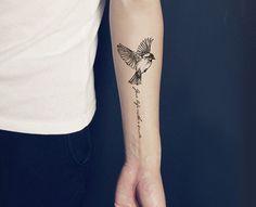 3st set slikt vogels tijdelijke tatouage pols tattoo citaat