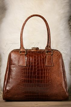 VaVa Vintage Brown Leather Croc Bag 17668 12082015 013W Leather Vans e5530965a2798