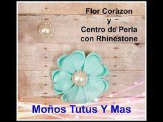 Moño con flores de listón/ HOW to MAKE a BOW/moños fáciles, DIY,tutorials, manualidades - YouTube