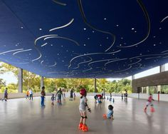 American Architects Pick the 11 Best Buildings of the Year///A Starry Skating Rink For a 147-Year-Old Park