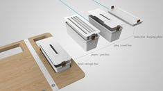 Desk for the organizationally obsessed! Whether you've got a severe case of OCD, or you're like me and just a bit messy, you'll appreciate this conceptual desk by Francois Dransart! The design aims to help the user de-clutter...