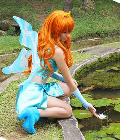 Vous voulez voyager, découvrir la capitale culturelle #Mons2015 avec une ambassadrice. Venez séjourner dans la chambre des anges bleus . Réservez ; otheka@gmail.com  from winx club cosplay | Bloom from Winx Club - Daily Cosplay .com