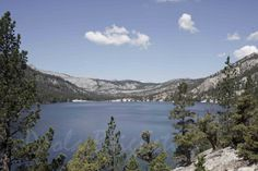 Blue Lake and Green Pine Trees South Tahoe by WorldPhotosByPaola, $45.00