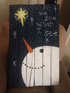 Christmas painting on wood pallet by craftsbymaggi on Etsy