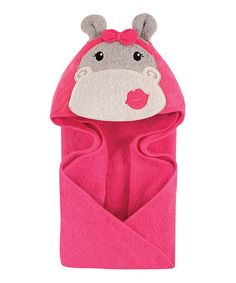 Loving this Hip Hippo Hooded Towel on #zulily! #zulilyfinds