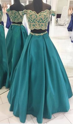 two pieces off shoulder green long prom dress, #prom #promdress #dress #eveningdress #evening #fashion #love #shopping #art #dress #women #mermaid #SEXY #SexyGirl #PromDresses
