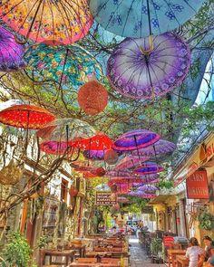 Umbrella street , foca izmir , turkey