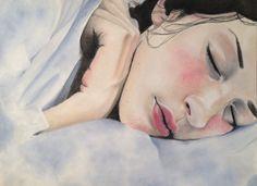 """Sleepy Girl"" by @wearealltourist made with pan pastel"