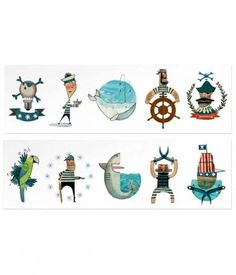 Pirate themed temporary tattoos by Londji! Let your imagination fly mixing up the different temporary tattoos! Pirate Theme, Pirate Party, Childrens Gifts, Childrens Party, Party Shop Online, Pirate Dress Up, Party Prizes, Tattoo Set, Tattoos For Kids