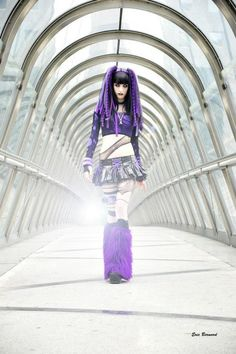 Love her purple cyberlox and this spacey futuristic photoshoot!