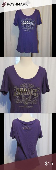 Harley Davidson Purple Short Sleeve Top XL Brand new with tags.  