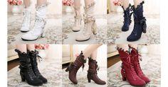 6 Colors Lolita Kawaii Bowknot Short Boots SP164982