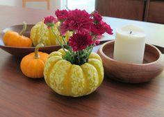 Thanksgiving Decorating Idea: DIY Pumpkin Planters >> http://blog.diynetwork.com/maderemade/2013/09/30/how-to-make-diy-pumpkin-planters/?soc=pinterest