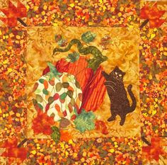 Home of Sunbonnet Sue and Other Great Quilt Patterns by PrairieCottageCorner Halloween Quilts, Halloween Patterns, Fall Snacks, Easy Quilt Patterns, Book Quilt, Quilted Wall Hangings, Easy Quilts, Simple Shapes, Christmas Traditions